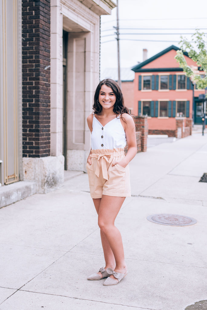 Key To Your Heart Romper, Mimosa