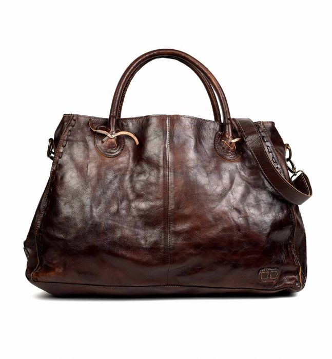 Rockaway Leather Tote, Teak Rustic