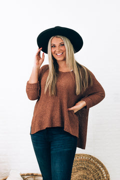 Windy City Loose Knit Sweater, Clay