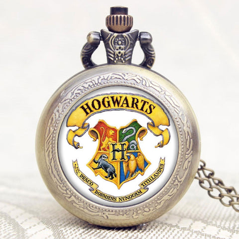 Harry Potter Hogwarts Symbol Pocket Watch
