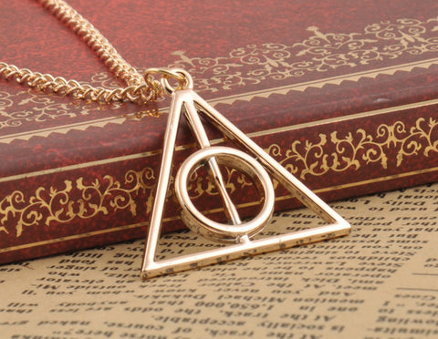 Harry Potter Deathly Hallows Triangle Metal Pendant