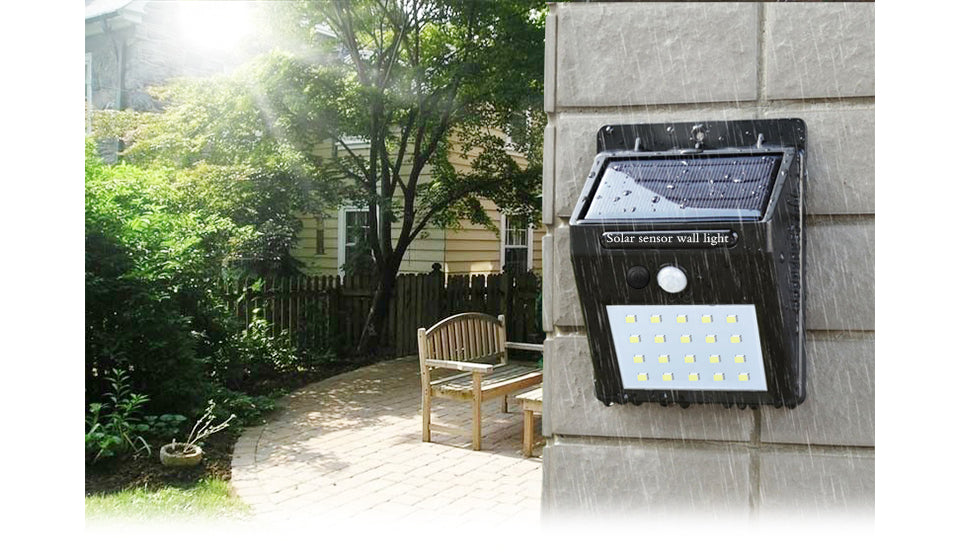 20 LED Solar-Powered Motion Sensor Security Light (1-, 2-, 3-, or 4-Pack)