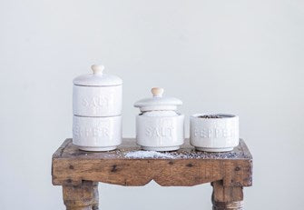 Salt & Pepper Stackable Pots