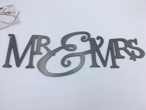 Mr & Mrs [Metal Wall Mount] 4