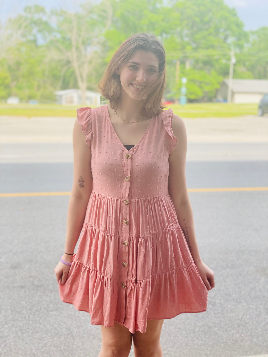 Make Your Own Way Peach Dress