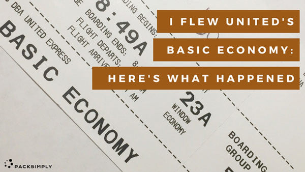 I Tried United Airline's Basic Economy:<br>Here's What Happened