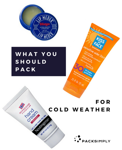 What Toiletries to Pack for Cold Weather | Pack Simply
