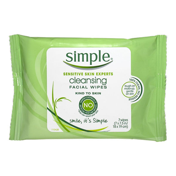 Simple Sensitive Skin Cleansing Facial Wipes (7pk)