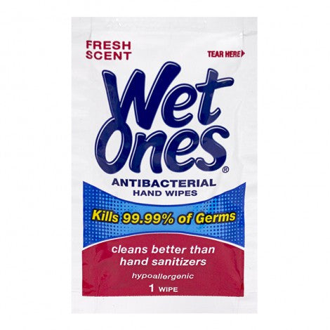 Wet Ones Antibacterial Single Wipes (1pk)