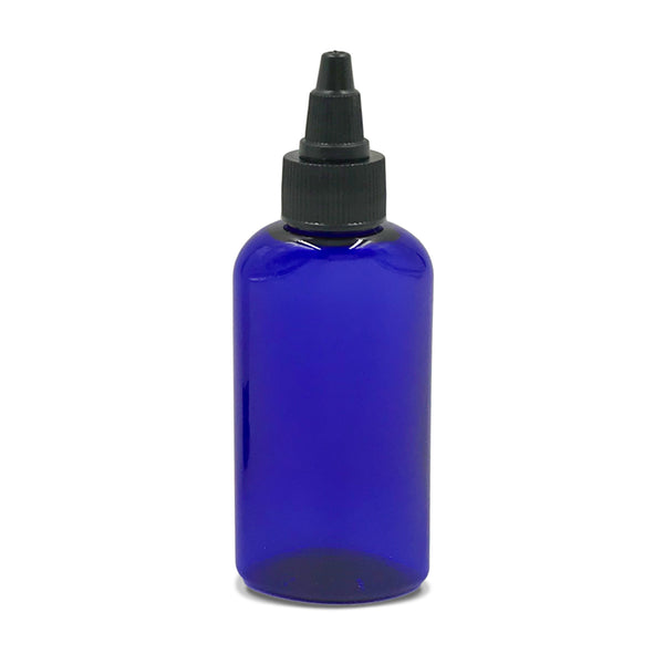 Refillable Blue Twist Open Bottle (2oz)
