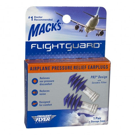 Mack's Flightguard Pressure Relief Earplugs (1pr)