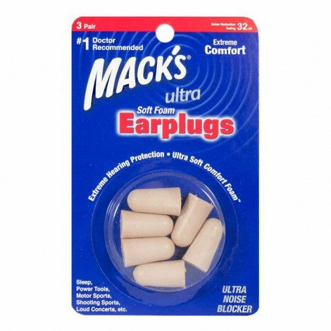 Mack's Ultra Soft Foam Earplugs (3pr)