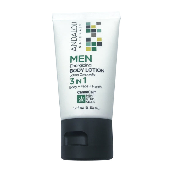 Andalou Naturals Cannacell Men's Energizing Body Lotion (1.7oz)