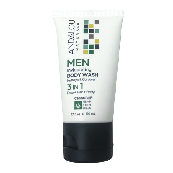 Andalou Naturals Cannacell Men's Invigorating Body Wash (1.7oz)