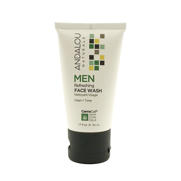 Andalou Naturals Cannacell Men's Refreshing Face Wash (1.7oz)