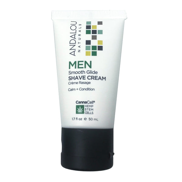 Andalou Naturals Cannacell Men's Smooth Glide Shave Cream (1.7oz)