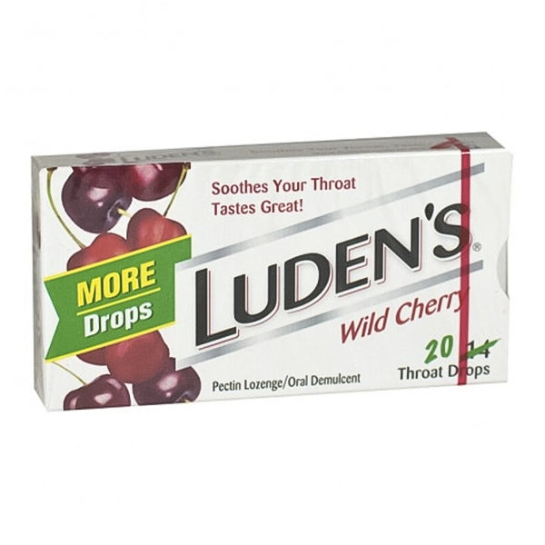 Luden's Wild Cherry Throat Drops (20pk)