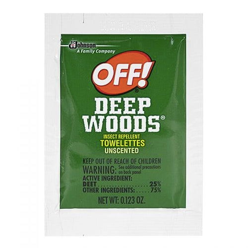 Off Deep Woods Insect Repellent Towelette (1pk)