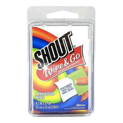 Shout Wipe & Go Stain Remover Wipes (4pk)