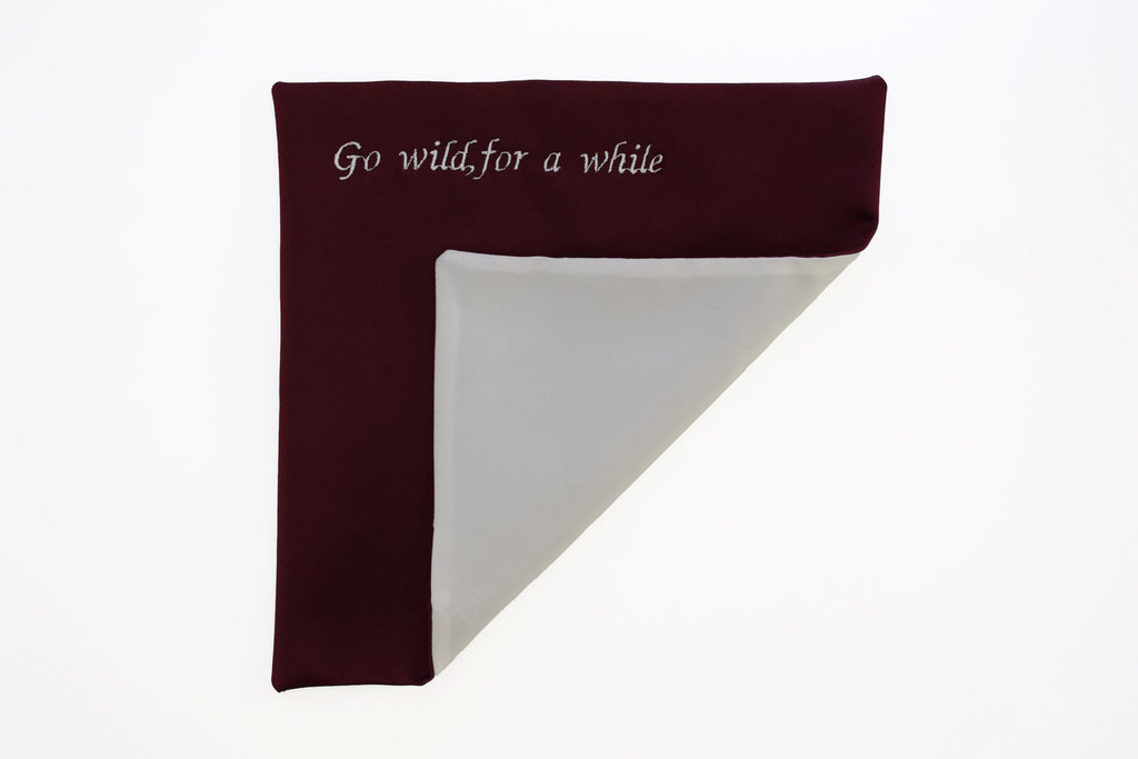 Up to 5 words - on a pocket square