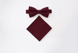 Burgundy polka dots set