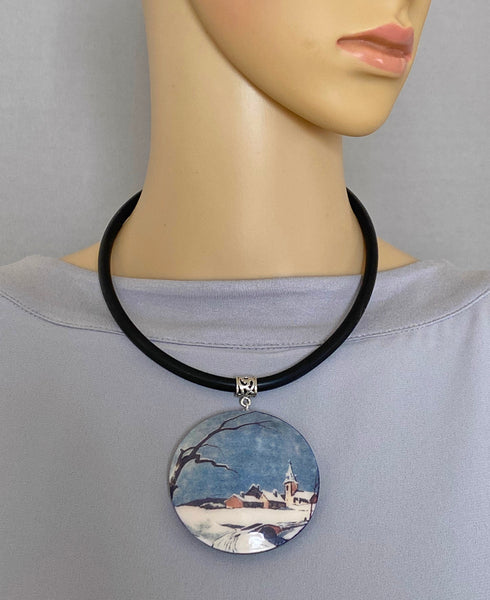 Pendant Necklace: Winter Wonderland