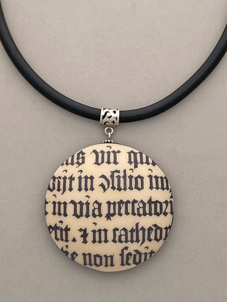 Pendant Necklace: Tantalizing Text