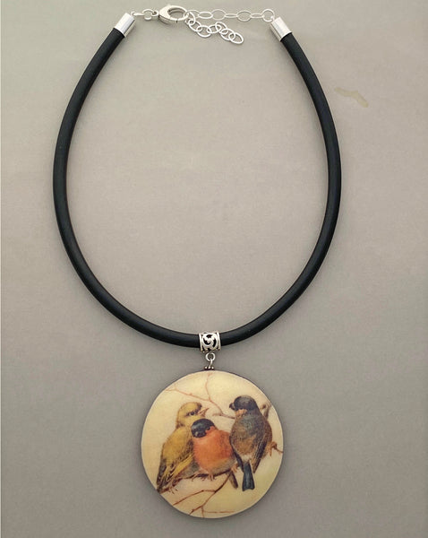 Pendant Necklace: Birds of a Feather