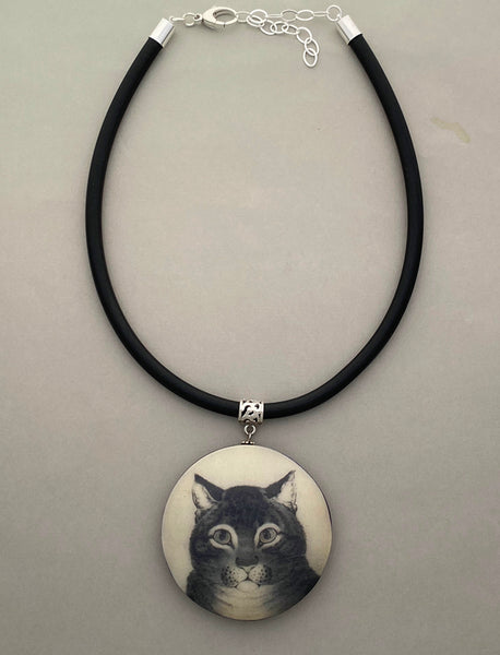 Pendant Necklace: Captivating Cat