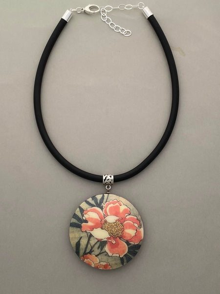 Pendant Necklace: Precious Peonies