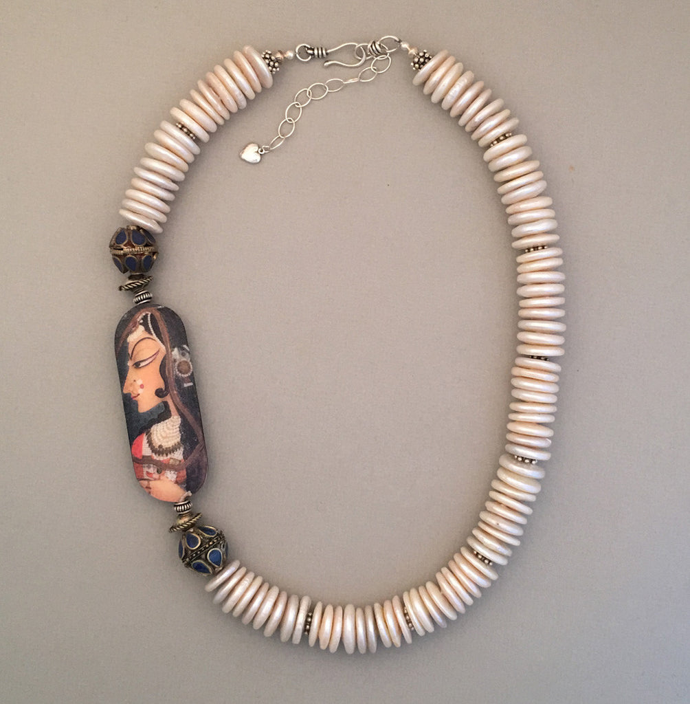 Freshwater Pearls and Silver Statement Necklace