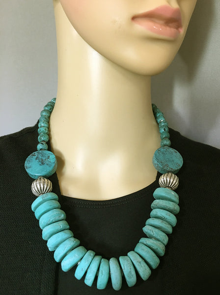 Afghan Mixed-Bead Statement Necklace