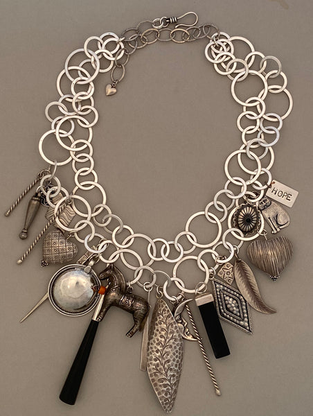 Black and Silver Treasure Necklace