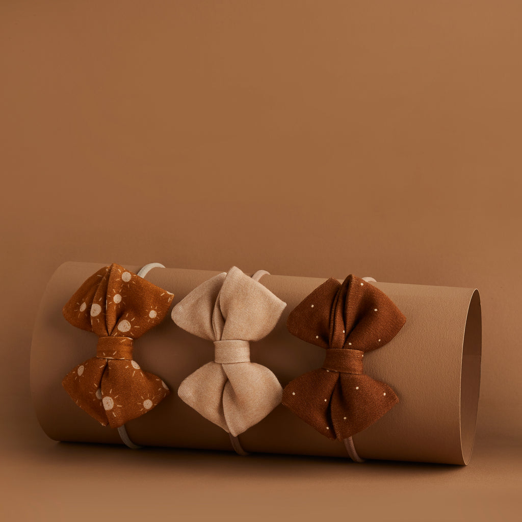 SET OF 3 | PIPER BOWS | BRANDY - BRIAR - SUNNY