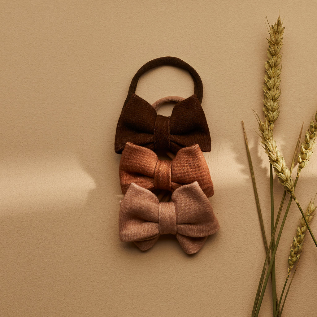 SET OF 3 | NORA BOWS | CEDAR - MAPLE - CINNAMON