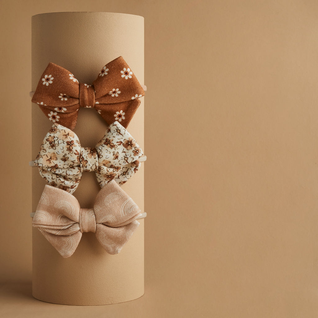 SET OF 3 | PIPER BOWS | DAISY - HARPER - BRIAR
