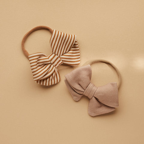 SET OF 2 | PIPER BOWS | TAN - TAUPE