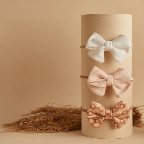 SET OF 3 | PIPER BOWS | VANILLA - NUDE - RAINBOW