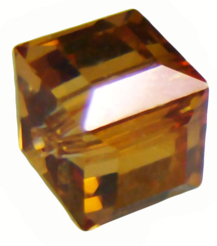 Swarovski Crystal Cube Bead - Crystal Copper