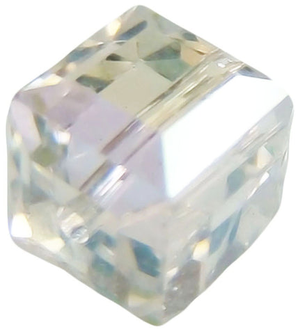 Swarovski Crystal Cube Bead - Crystal Moonlight