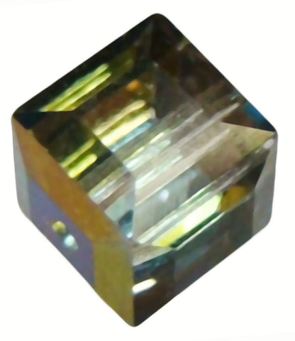 Swarovski Crystal Cube Bead - Crystal Vitrail Medium