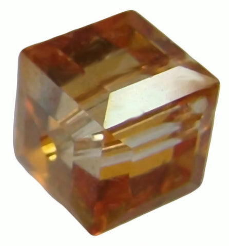 Swarovski Crystal Cube Bead - Crystal Chili Pepper