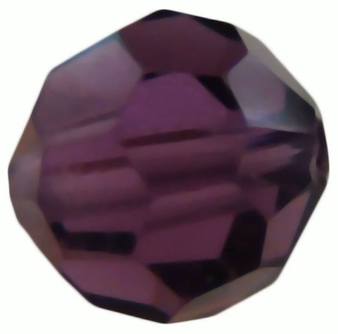 Swarovski Crystal Faceted Round - Amethyst