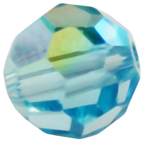 Swarovski Crystal Faceted Round - Aquamarine AB