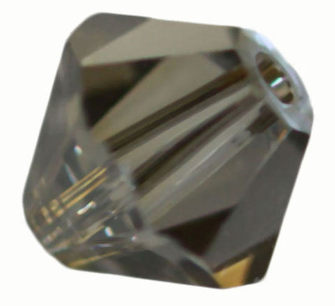 Swarovski Crystal Bicone - Black Diamond Golden Shadow