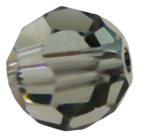 Swarovski Crystal Faceted Round - Black Diamond