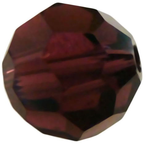 Swarovski Crystal Faceted Round - Burgundy