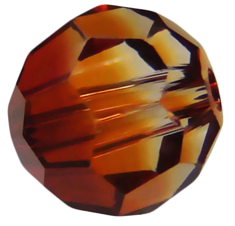 Swarovski Crystal Faceted Round - Crystal Copper