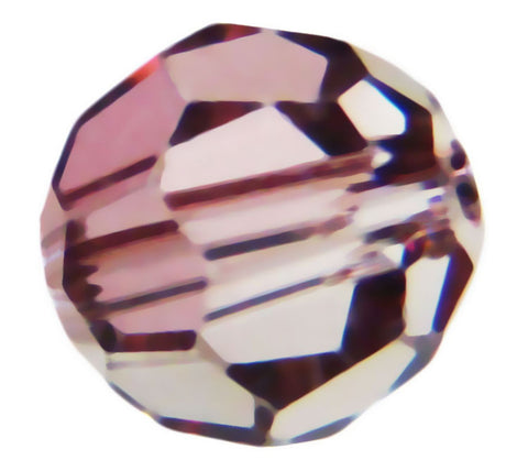 Swarovski Crystal Faceted Round - Crystal Antique Pink