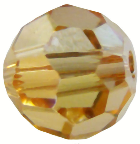 Swarovski Crystal Faceted Round - Crystal Brandy